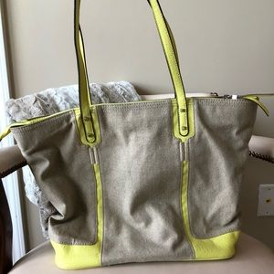 Stella & Dot canvas tote bag